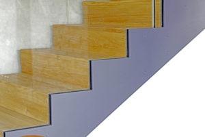 Faltwerk-Treppe mit Ganzglas-Gländer 2